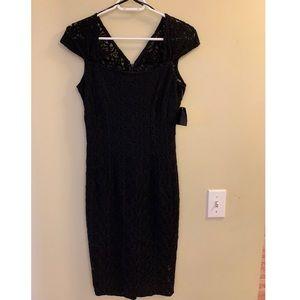 Black Lace Midi Dress NWT